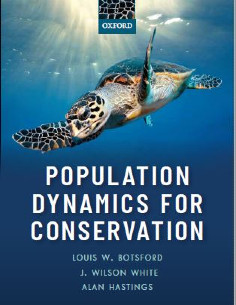 "Book cover titled ""Population Dynamics for Conservtion"""