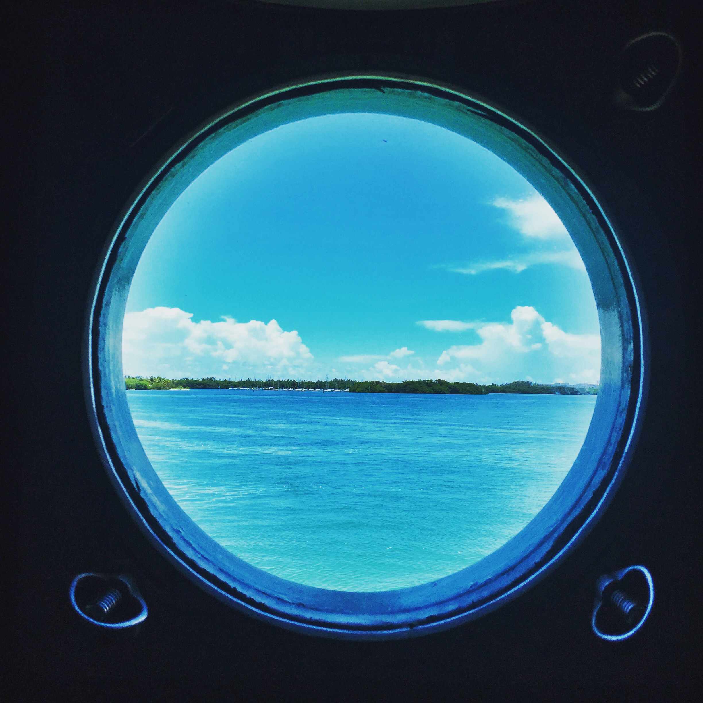 View from the RVWS state room porthole. Florida Keys.