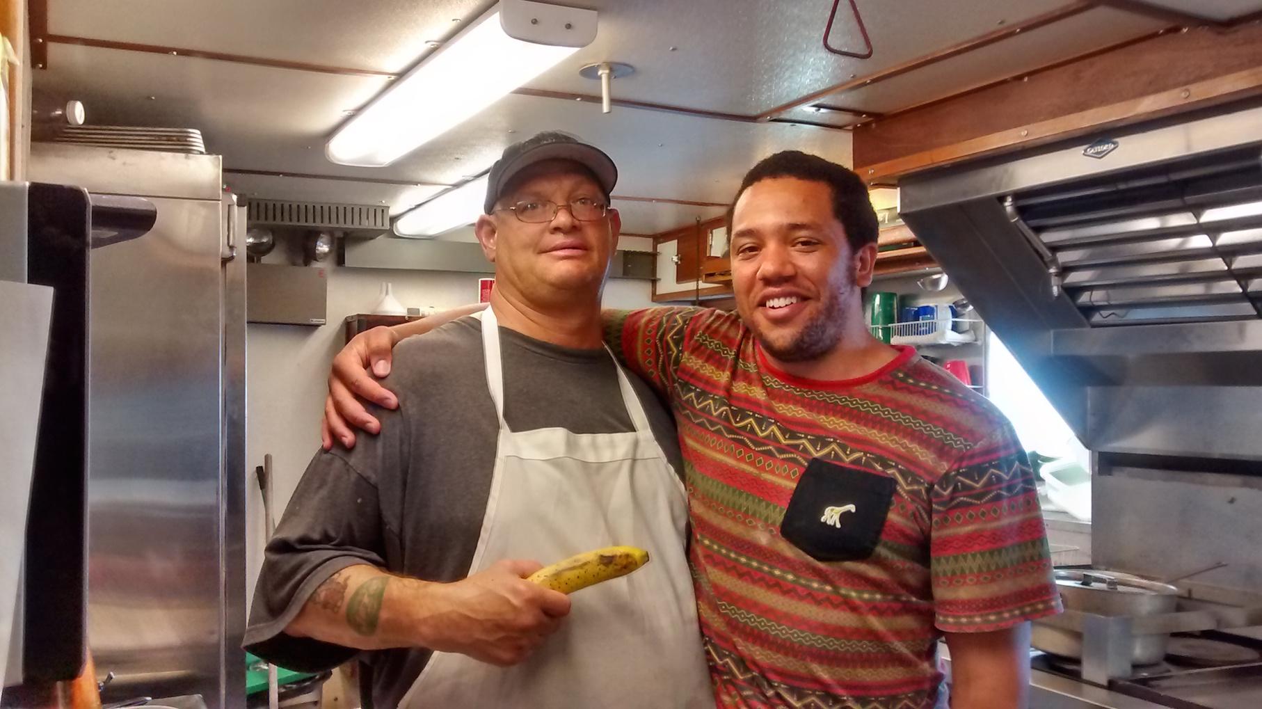 Pete Persico (Ship's cook) & Matthew Rambo (BYU, REU)