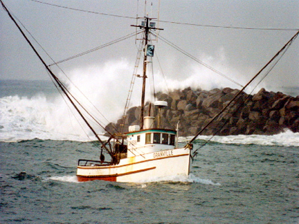 Fishing boat off the Oregon coast
