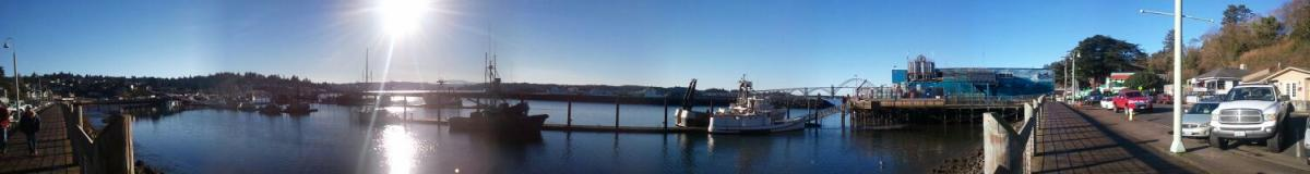 Yaquina Bay panorama