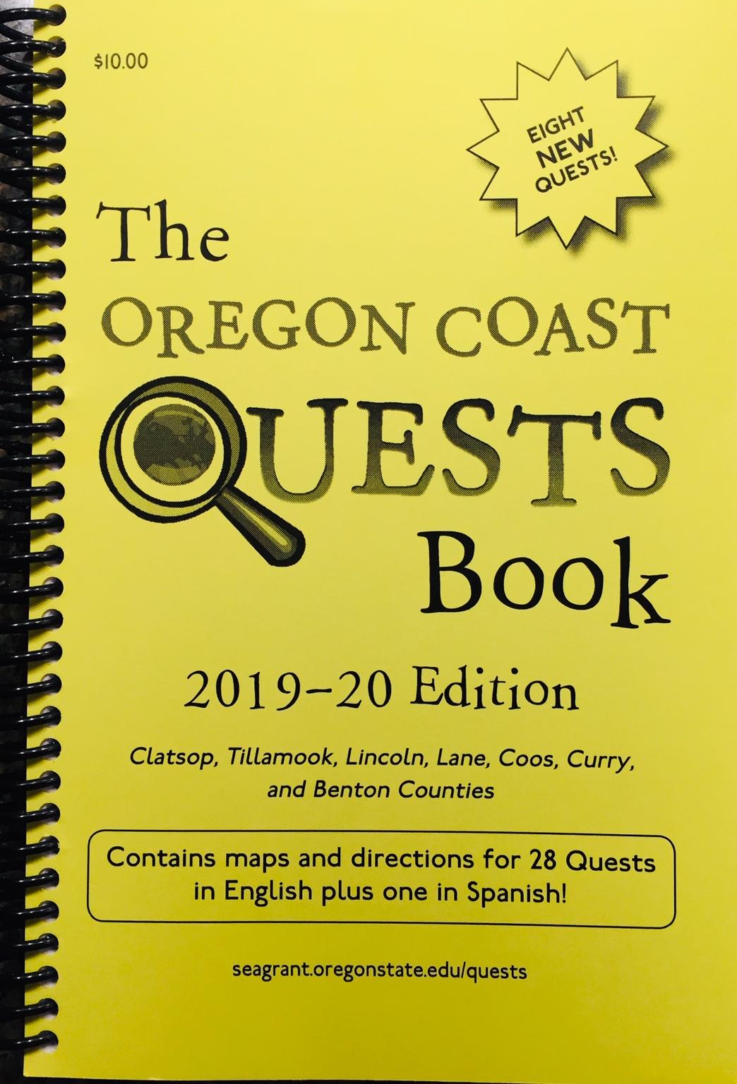 Oregon Coast Quests Book, 2019-20 Ed cover