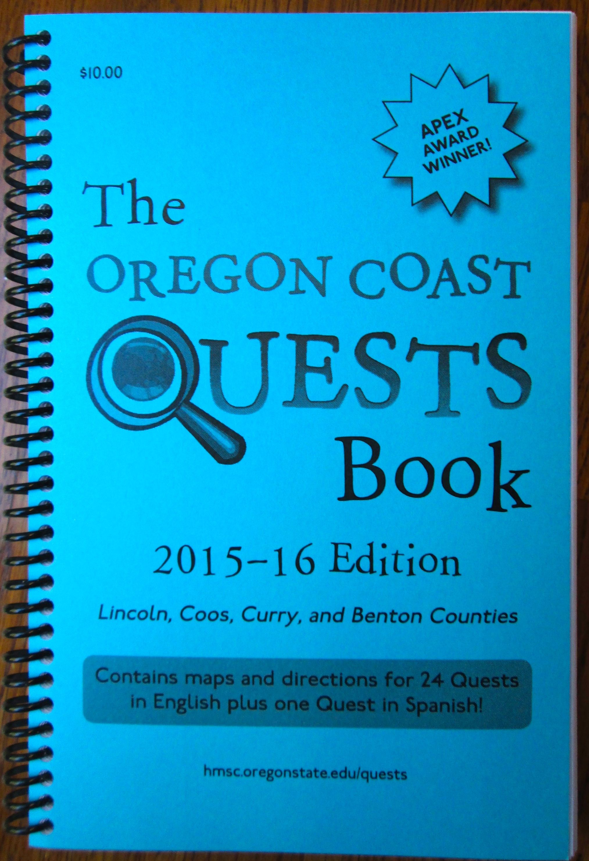 Oregon Coast Quests Book, 2015-16 Edition