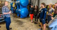 OSU students visit HMSC facilities