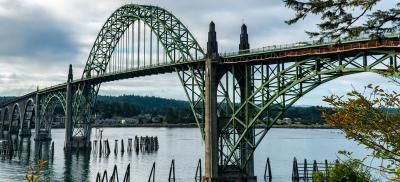 Yaquina Bridge in Newport Oregon