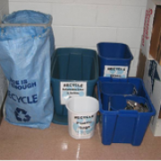 Recycling bins at HMSC