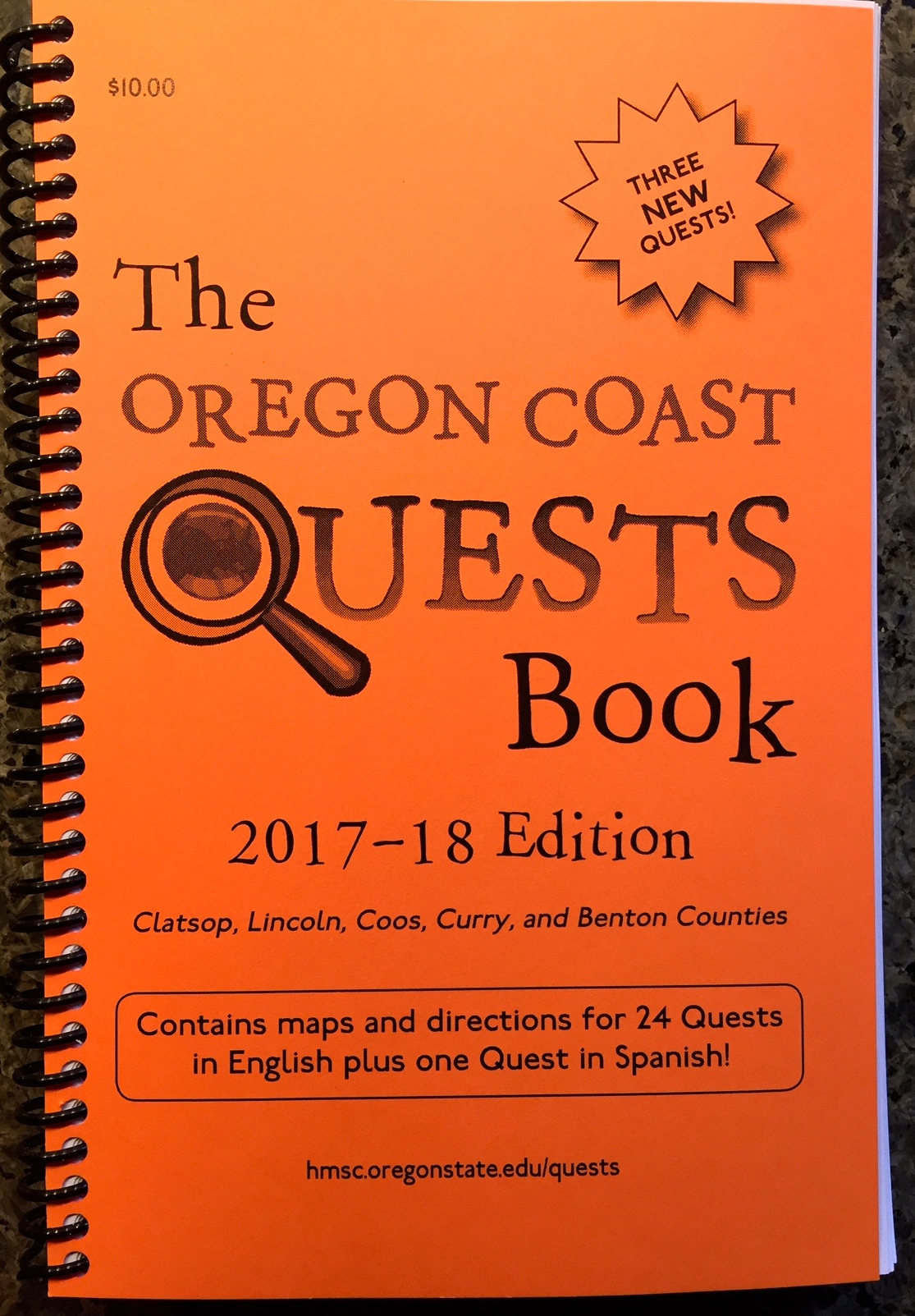 Oregon Coast Quests Book, 2017-18 Ed