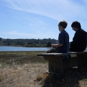 Enjoying the view on the Yaquina Estuary Quest